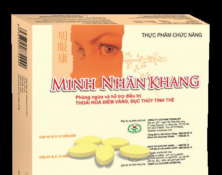 Viên uống bổ mắt Minh Nhãn Khang dùng trong trị đục dịch kính
