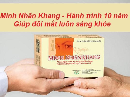 Viên uống Minh Nhãn Khang - Hành trình 10 năm giúp đôi mắt sáng khỏe