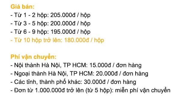 Bảng giá bán Online Minh Nhãn Khang
